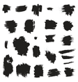 Grunge painted brush strokes Design elements set vector image