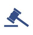 hammer judge icon vector image vector image