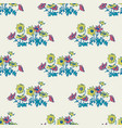 hand drawn flowers daisy leaves seamless pattern vector image