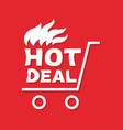 hot deal banner vector image
