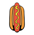 hotdog icon cartoon vector image vector image