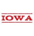 Iowa Watermark Stamp vector image vector image