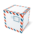 Isolated cardboard box vector image