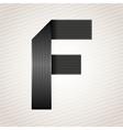 Letter metal ribbon - F