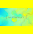 liquid yellow blue gradient color abstract vector image vector image