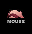 logo mouse gradient colorful style vector image