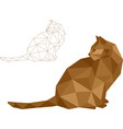low polygon cat vector image vector image