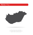 map hungary isolated black vector image vector image