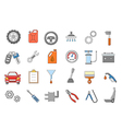Mechanic icons set vector image