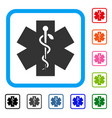 medical life star framed icon vector image vector image