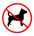 no dog symbol vector image vector image