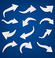 Paper arrows vector image