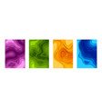 paper cut posters 3d mockup with colorful shapes vector image vector image