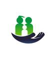 parenting care logo design template vector image