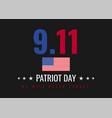 patriot day background design vector image