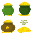 Pot of gold Pot of leprechaun Treasures of vector image