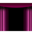 purple curtain vector image