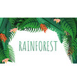 rainforest concept banner cartoon style vector image