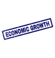rectangle scratched economic growth stamp vector image