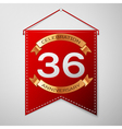 Red pennant with inscription Thirty six Years vector image vector image