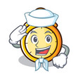 sailor chronometer character cartoon style vector image vector image