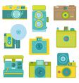 Set of Flat Photo Cameras vector image