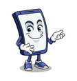 smartphone mascot presenting vector image vector image