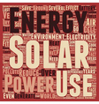 Solar Power How Does It Save The Environment text vector image vector image