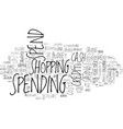 spend word cloud concept vector image