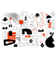 unique trendy artistic collection of abstract vector image