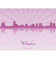 Windsor skyline in radiant orchid vector image vector image
