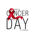 world cancer day concept lavender ribbon vector image vector image