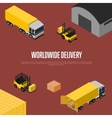 Worldwide delivery isometric concept vector image vector image