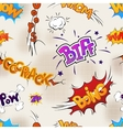 Colour comics effects on old paper seamless vector image