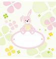 Bunny Rabbit Frame vector image