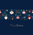 christmas and new year gold cartoon greeting card vector image