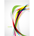 Colorful lines vector image