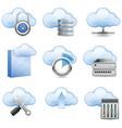 cloud hosting vector image