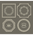 Set of vintage frames borders vector image