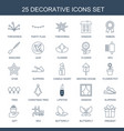 25 decorative icons vector image vector image