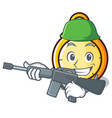 army chronometer character cartoon style