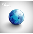 background with globe icon vector image vector image
