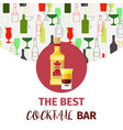 best cocktail bar banner vector image
