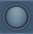 blue jeans circle frame vector image vector image
