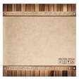 Brown paper background and wood texture vector image vector image