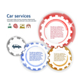 car service brush effect it gears white background vector image vector image
