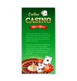 Casino background vertical banner flyer