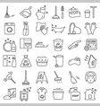 Cleaning and washing icon set vector image