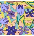 Crocuses seamless pattern lilac vector image vector image