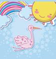 cute baby cartoons vector image vector image